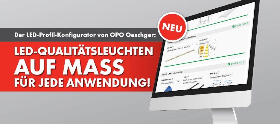 Der LED-Profil-Konfigurator von OPO Oeschger