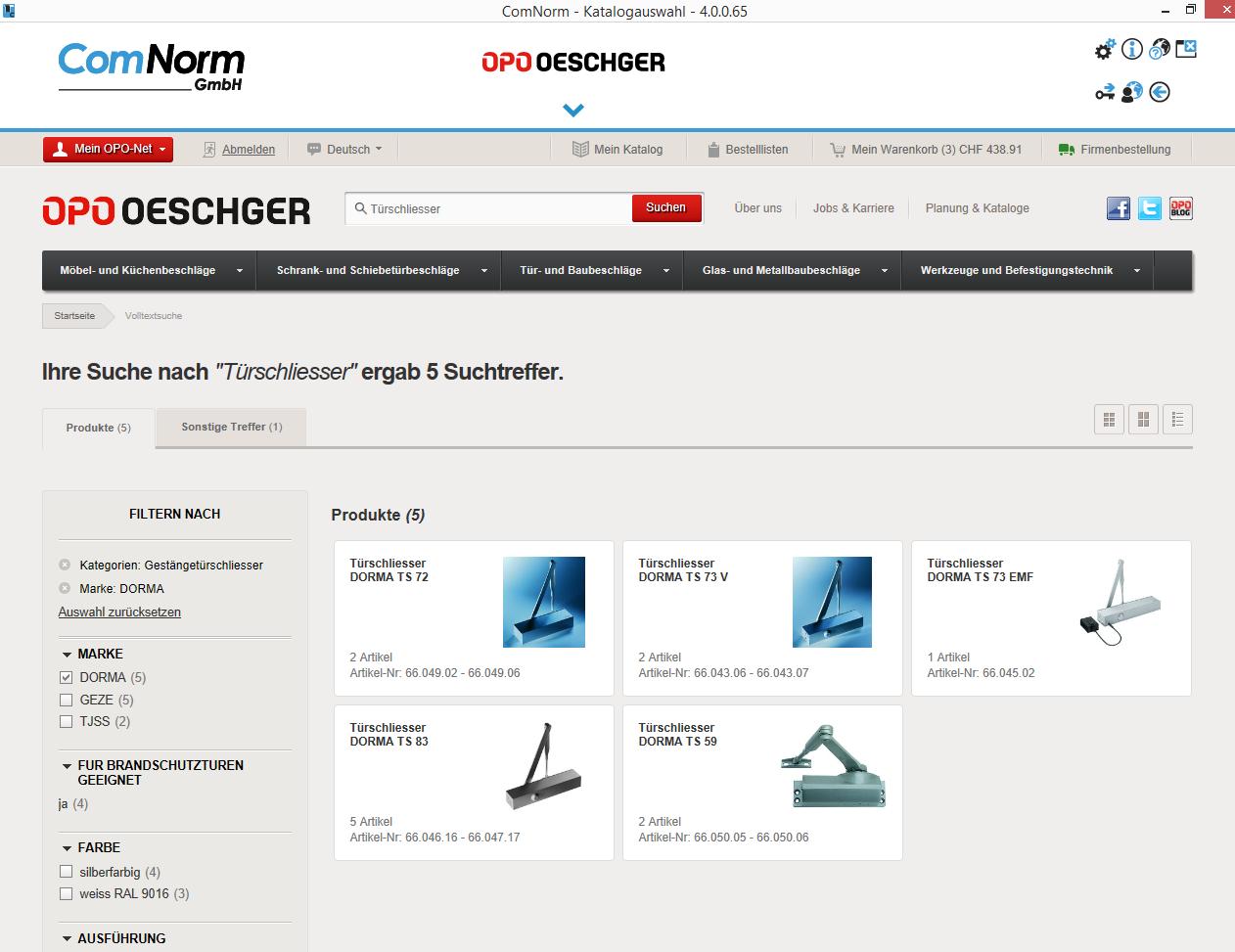 ComNorm_Katalogauswahl_de