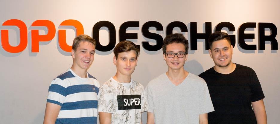 Lernende bei OPO Oeschger AG