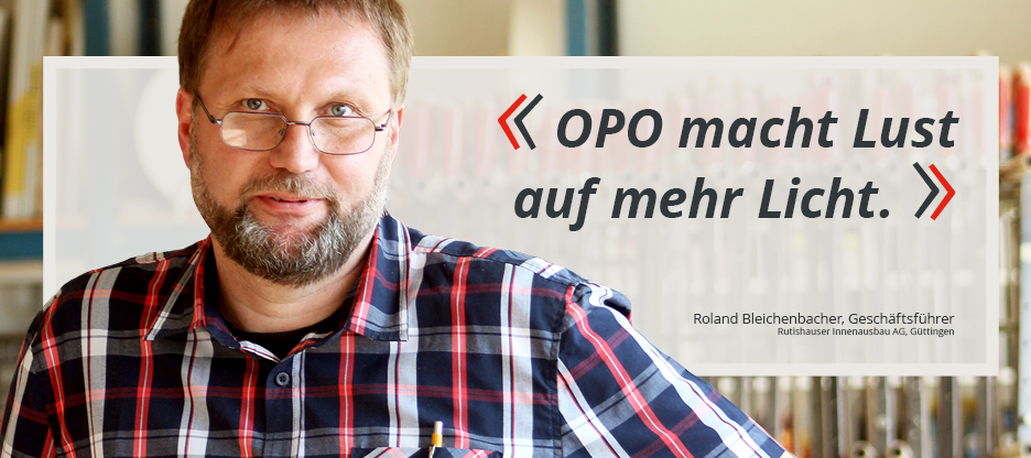 OPO-Kunden im Mittelpunkt: Rutishauser Innenausbau AG