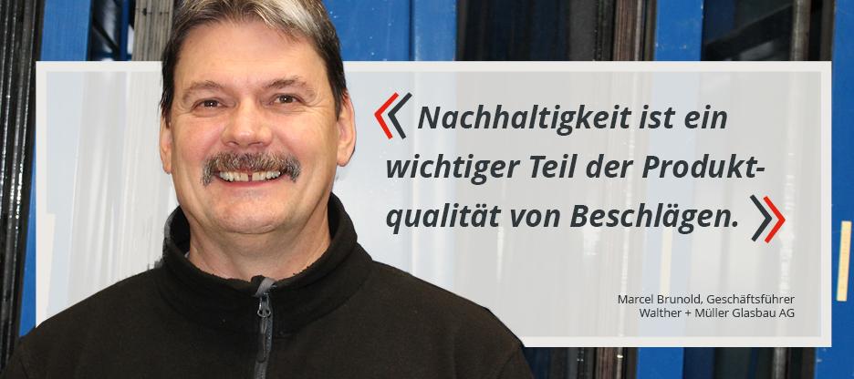 OPO-Kunden im Mittelpunkt: Walther + Müller Glasbau AG