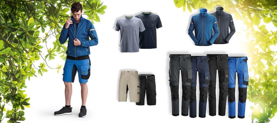 Jetzt in Aktion: unsere Arbeitskleidung für Frühling und Sommer