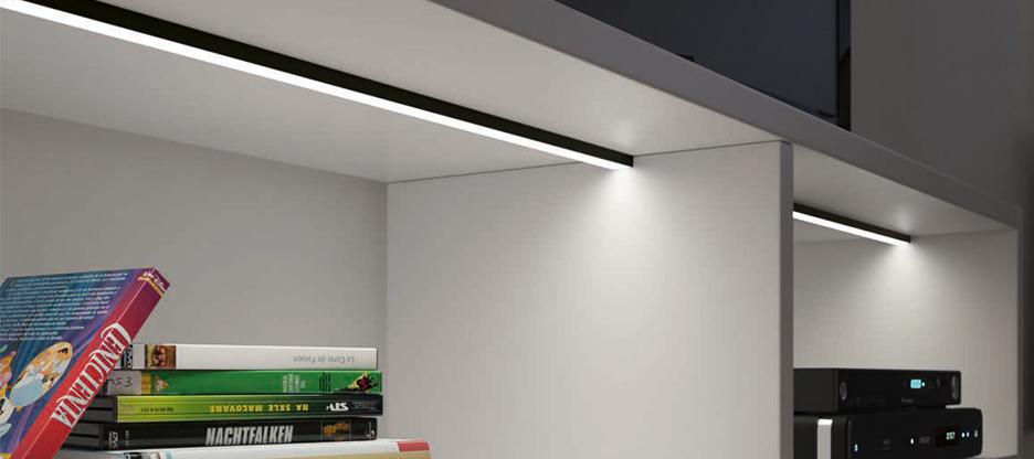 Neuheit: HALEMEIER LED-Profile mit schwarz eloxierten Profilen