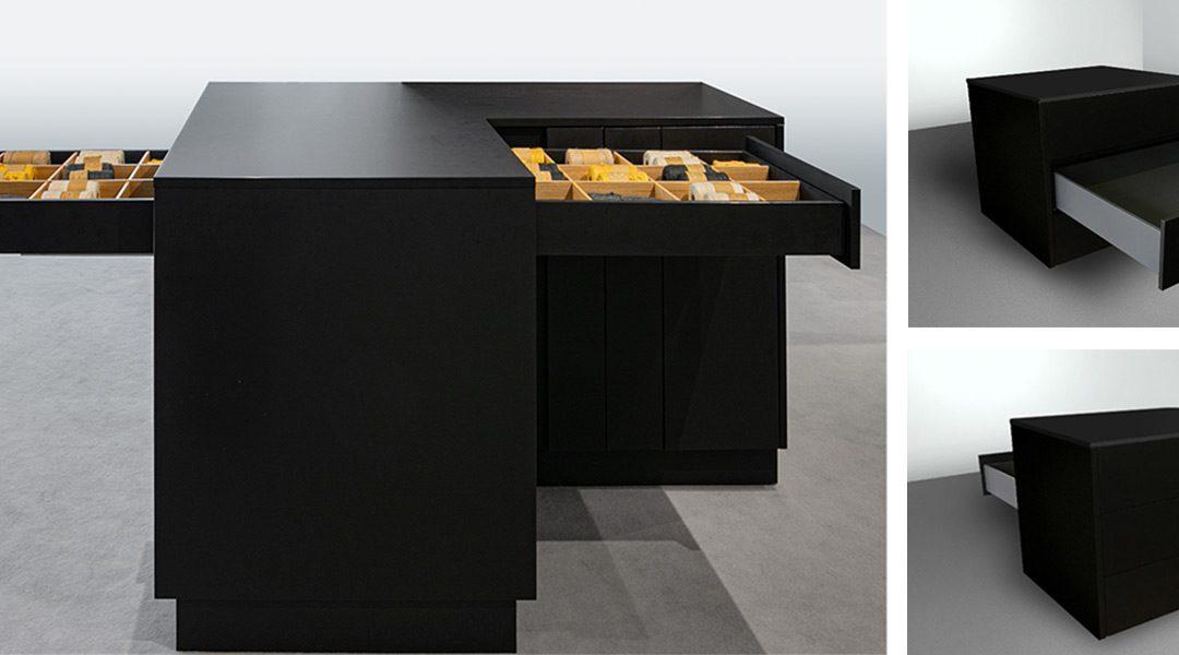 Das beidseitig ausziehbare Schubladensystem PEKA Riverso