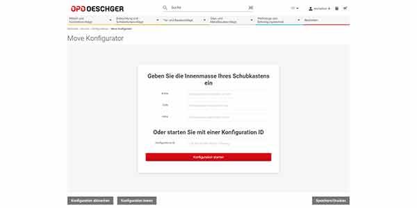 MOVE Konfigurator OPO Oeschger